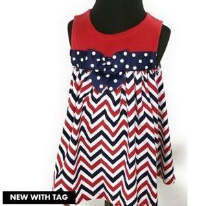 Bonnie Baby Red White & Blue Dress Sz18m